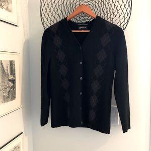 Very soft 2-ply cashmere cardigan. Jones New York